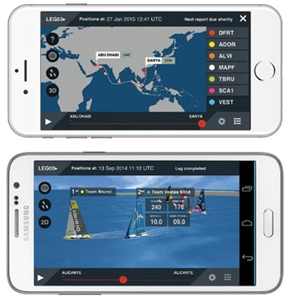 Volvo Ocean Race Mobile Tracker